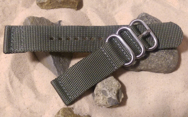 The Destroyer Z3™ Two-Piece Nato Strap w/ Brushed Hardware (Stitched) 22mm