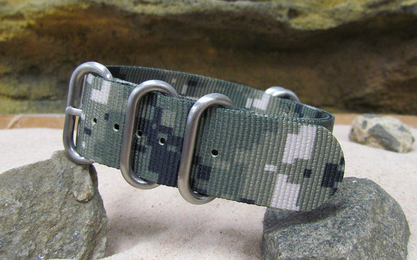 The Digital Stealth XII Z5™ Nato Strap w/ Brushed Hardware (Stitched) 24mm