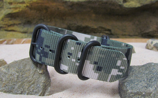 The Digital Stealth XII Z5™ Nato Strap w/ PVD Hardware (Stitched) 20mm
