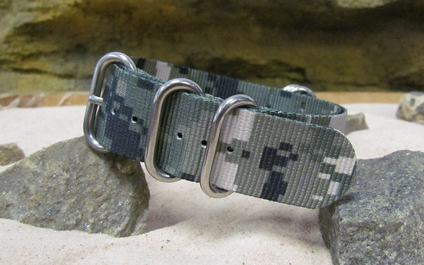The Digital Stealth XII Z5™ Nato Strap w/ Polished Hardware (Stitched) 24mm