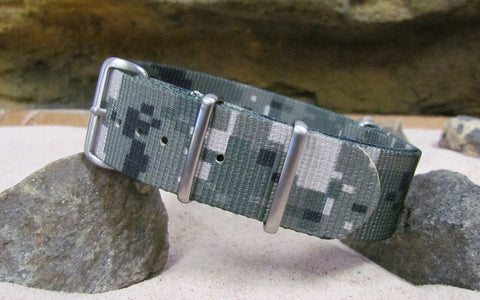 The Digital Stealth XII NATO w/ Brushed Hardware (Stitched) 22mm