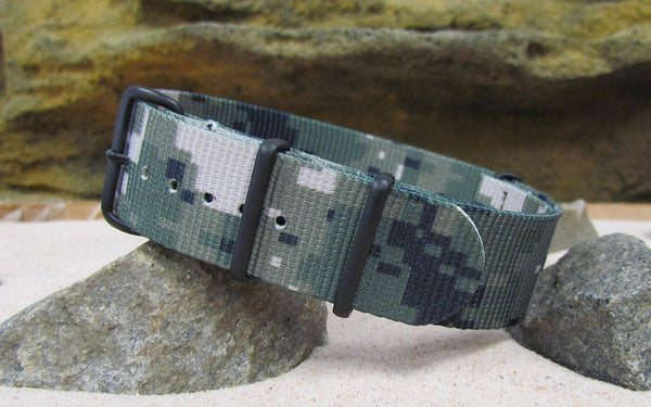 The Digital Stealth XII Nato Strap w/ PVD Hardware (Stitched) 20mm