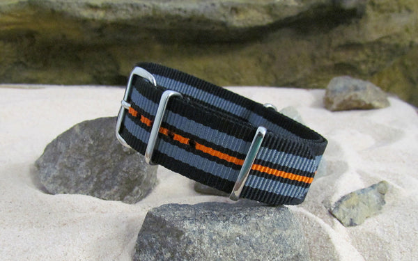 The Shockwave Ballistic Nylon Strap w/ Polished Hardware 22mm