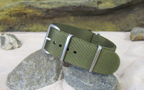 The Brigade Ballistic Nylon Strap w/ Brushed Hardware 22mm