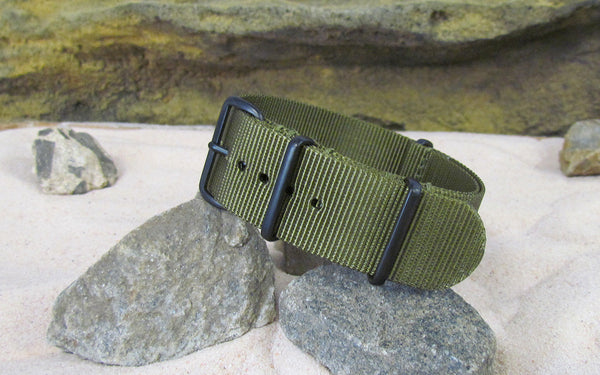 The Brigade Ballistic Nylon Strap w/ PVD Hardware 18mm