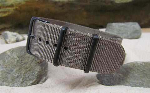 The Fortress XII Ballistic Nylon Strap w/ PVD Hardware (Stitched) 18mm