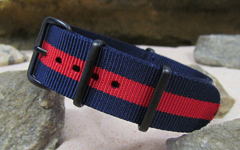 The GQ NATO Strap w/ PVD Hardware (Stitched) 18mm
