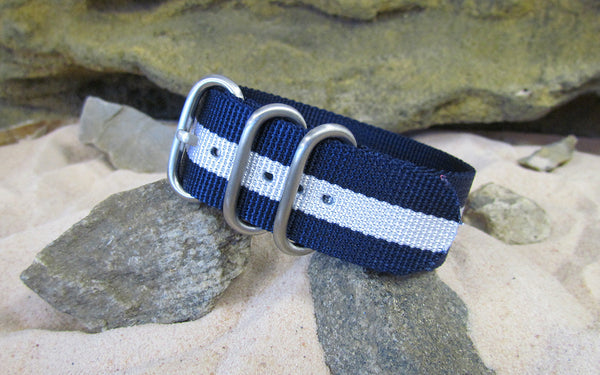 The Gentleman Z3™ Ballistic Nylon Strap w/ Brushed SS Hardware (Stitched) 20mm
