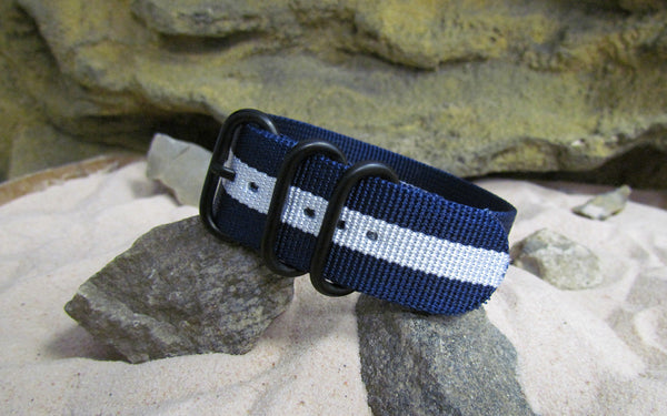 The Gentleman Z3™ Ballistic Nylon Strap w/ PVD Hardware (Stitched) 24mm