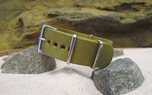 The Gold Rush XII Nato Strap w/ Brushed Hardware (Stitched) 22mm