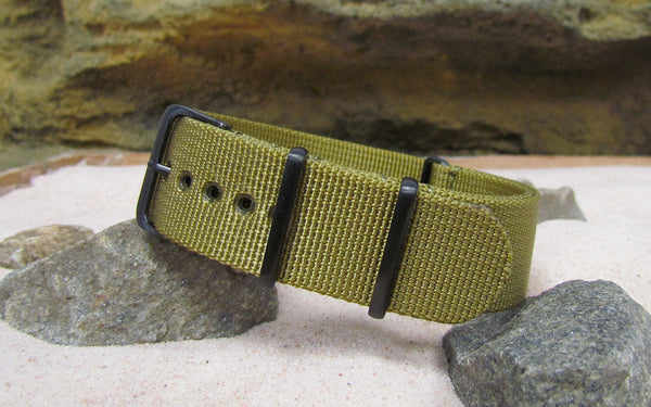 The Gold Rush XII Nato Strap w/ PVD Hardware (Stitched) 18mm