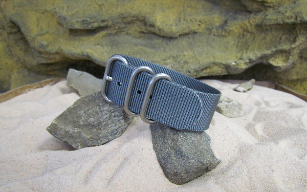 The Gray Matter Z3™ Nato Strap w/ Brushed SS Hardware (Stitched) 20mm