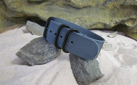 The Gray Matter Z3™ Ballistic Nylon Strap w/ PVD Hardware 18mm