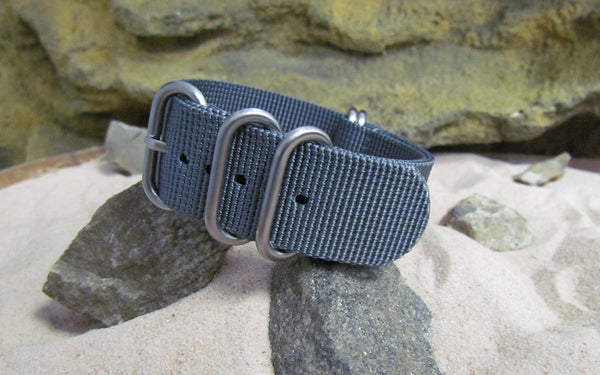 The Gray Matter Z5™ Nato Strap w/ Brushed SS Hardware (Stitched) 24mm