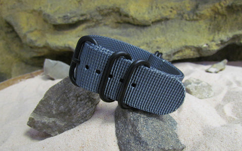 The Gray Matter Z5™ Ballistic Nylon Strap w/ PVD Hardware (Stitched) 20mm