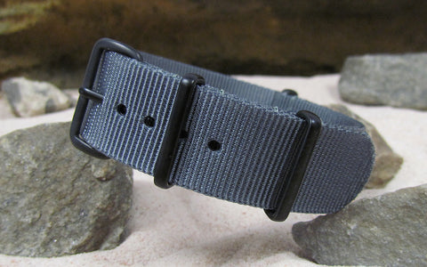 The Gray Matter NATO Strap w/ PVD Hardware (Stitched) 28mm