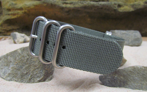 The Gray Matter XII Z5™ Ballistic Nylon Strap w/ Brushed Hardware (Stitched) 24mm