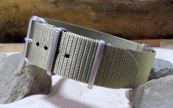 The NEW Gray Matter XII Ballistic Nylon Strap w/ Brushed Hardware (Stitched) 18mm