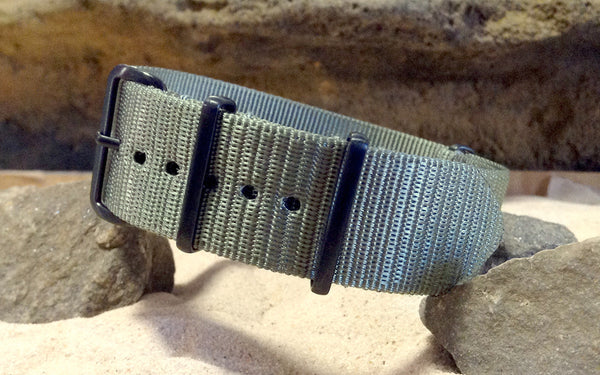 The NEW Gray Matter XII Nato Strap w/ PVD Hardware (Stitched) 18mm