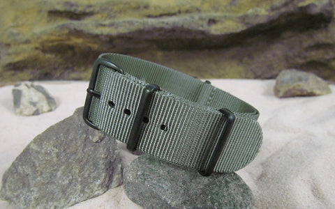 The Destroyer Nato Strap w/ PVD Hardware (Stitched) 22mm
