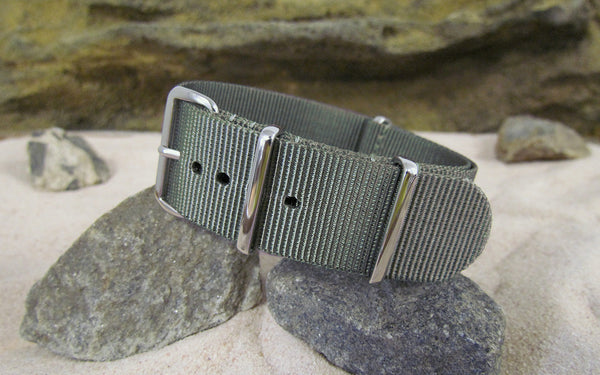 The Destroyer Nato Strap w/ Polished Hardware (Stitched) 22mm