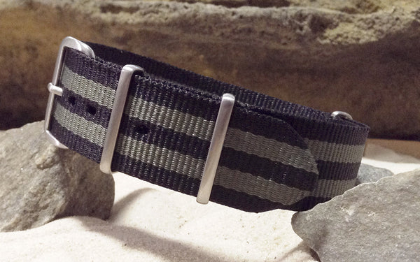 The Grove XII NATO Strap w/ Brushed Hardware (Stitched) 22mm