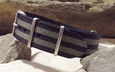 The Grove XII NATO Strap w/ Brushed Hardware (Stitched) 24mm
