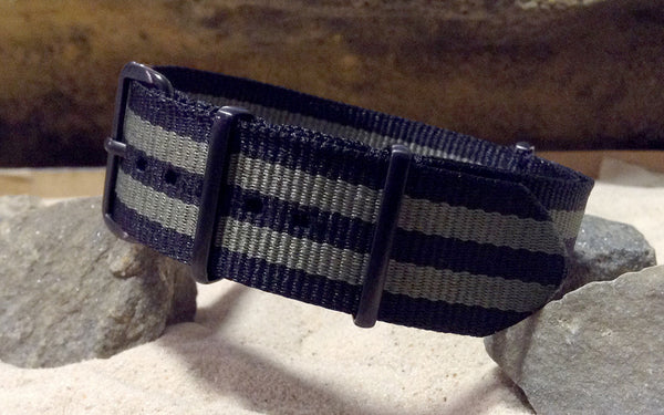 The Grove XII NATO Strap w/ PVD Hardware (Stitched) 22mm