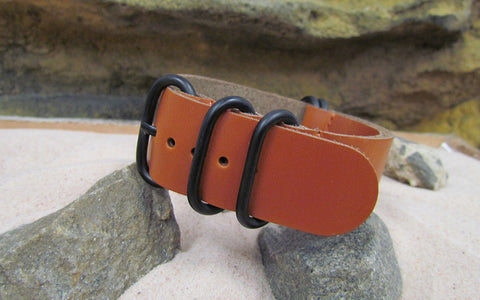 The Holster Z5™ Leather Strap w/ PVD Hardware (Stitched) 24mm