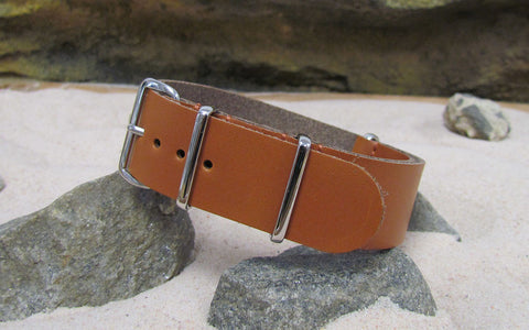 The Holster Leather NATO Strap w/ Polished Hardware (Stitched) 18mm