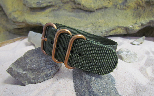 The Infantry Z3™ Ballistic Nylon Strap w/ BRONZE Hardware 24mm