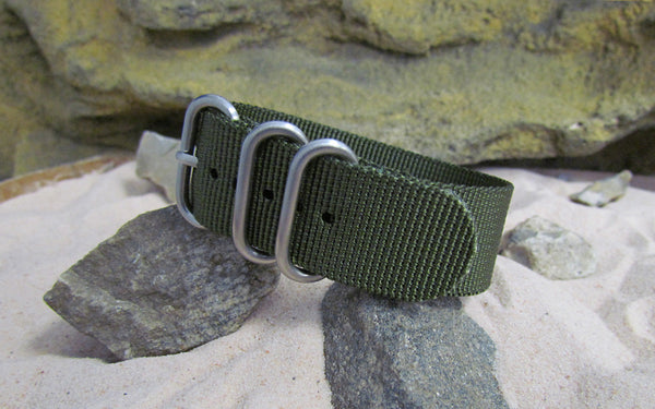 The Infantry Z3™ Nato Strap w/ Brushed SS Hardware (Stitched) 20mm