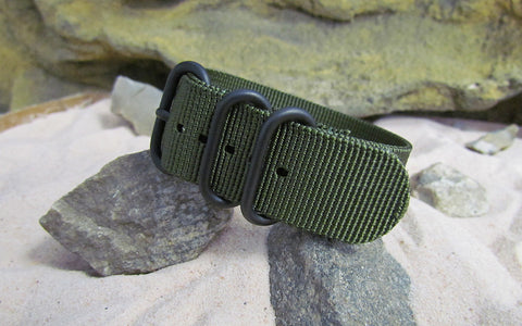 The Infantry Z3™ Ballistic Nylon Strap w/ PVD Hardware (Stitched) 24mm