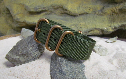 The Infantry Z5™ Nato w/ BRONZE Hardware (Stitched) 22mm