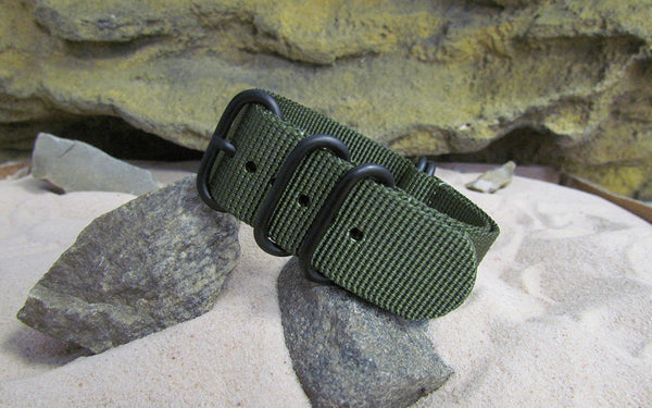The Infantry XII Z5™ Ballistic Nylon Strap w/ PVD Hardware (Stitched) 20mm