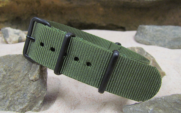 The Infantry XII NATO Strap w/ PVD Hardware (Stitched) 18mm