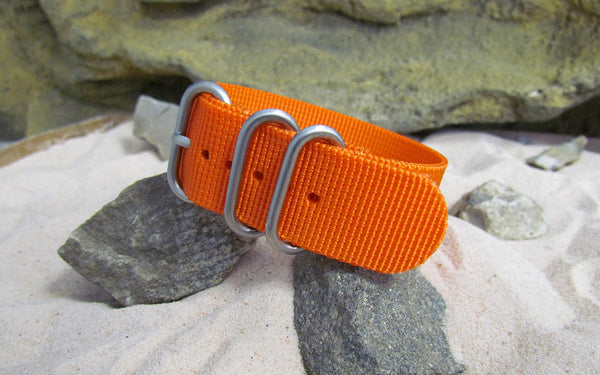 The Inmate 5150 Z3™ Ballistic Nylon Strap w/ Brushed SS Hardware (Stitched) 18mm