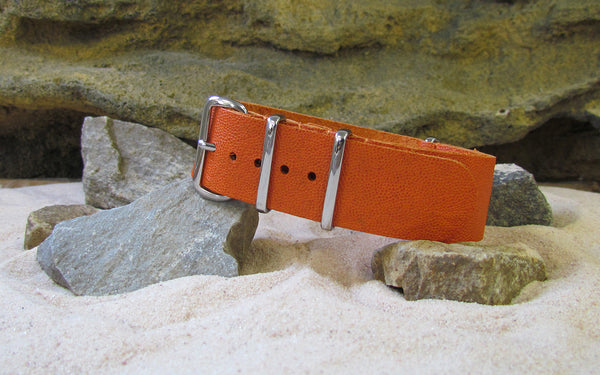 The Inmate Leather Ballistic Strap w/ Polished Hardware (Stitched) 18mm
