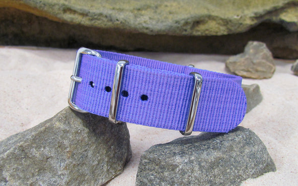 The Lavender NATO Strap w/ Polished Hardware 20mm