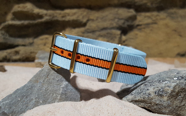 The Le Mans II Ballistic Nylon Strap w/ Gold Hardware 20mm