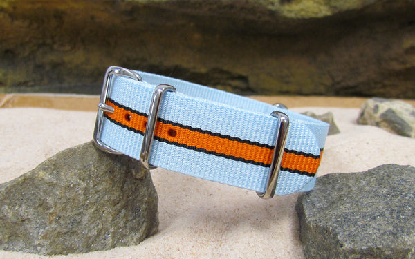 The Le Mans II Nato Strap w/ Polished Hardware 18mm