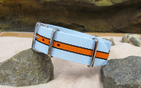 The Le Mans II Ballistic Nylon Strap w/ Polished Hardware 18mm
