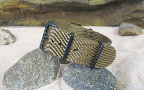 The Cadet Nato Strap w/ PVD Hardware (Stitched) 22mm