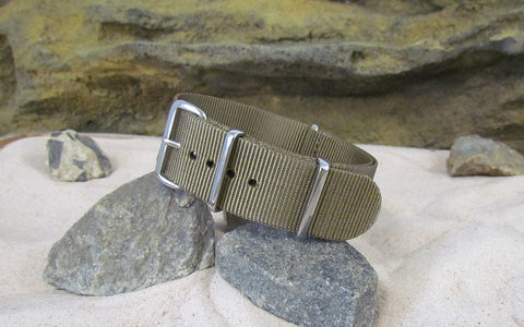 The Cadet Nato Strap w/ Polished Hardware (Stitched) 22mm