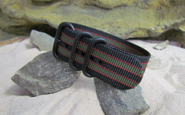 The MI6 Bond Z3™ Ballistic Nylon Strap w/ PVD Hardware (Stitched) 24mm