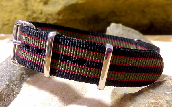 The Standard MI6 Bond XII NATO Strap w/ Polished Hardware (Stitched) 18mm