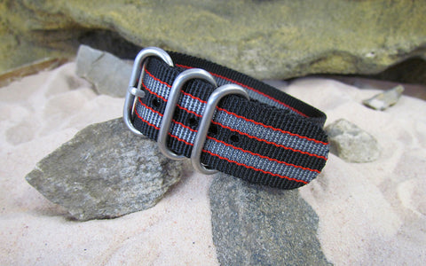NEW - The MI6 Bond II Z3™ Ballistic Nylon Strap w/ Brushed SS Hardware (Stitched) 26mm