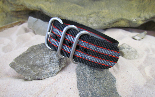 The MI6 Bond II Z3™ Ballistic Nylon Strap w/ Brushed SS Hardware (Stitched) 18mm