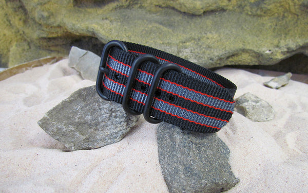 The MI6 Bond II Z3™ Ballistic Nylon Strap w/ PVD Hardware 24mm