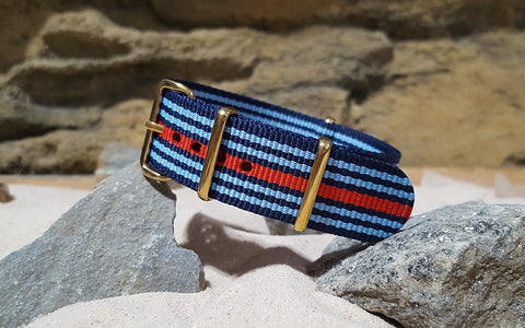 The Martini Ballistic Nylon Strap w/ Gold Hardware 18mm
